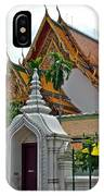 Street Entry To Wat Po In Bangkok-thailand IPhone Case