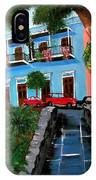 Street Hill In Old San Juan IPhone Case