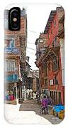 Street In Bhaktapur-city Of Devotees-nepal  IPhone Case