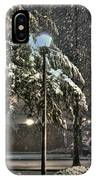 Street Lamp In The Snow IPhone Case
