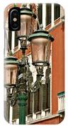 Street Lamps Of Venice IPhone Case
