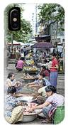 Street Market In Yangon Myanmar IPhone Case