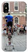 Street Performer Faneuil Hall Market Boston IPhone Case