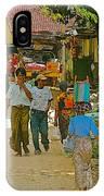 Street Scene In Tachilek-burma IPhone Case