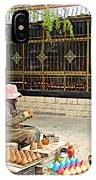 Street Shopkeeper In Lhasa-tibet IPhone Case