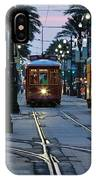 Streetcars On Canal Street IPhone Case