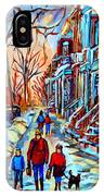 Streets Of Montreal IPhone Case