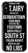 Streets Of Philadelphia 2 IPhone Case by Naxart Studio
