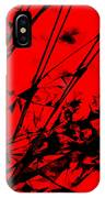Strike Out Red And Black Abstract IPhone Case