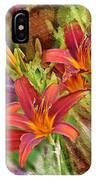 Striking Daylilies - Digital Art IPhone Case