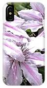 Striped Clematis IPhone Case