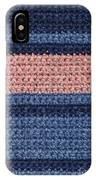 Striped Crochet Cloth IPhone Case