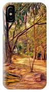 Stroll In The Park. IPhone Case