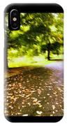 Stroll On An Autumn Lane IPhone Case