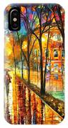 Stroll With My Best Friend - Palette Knife Oil Painting On Canvas By Leonid Afremov IPhone Case