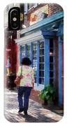 Alexandria Va - Strolling Down King Street IPhone Case