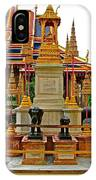 Stupa Surrounded By Elephants At Grand Palace Of Thailand In Ban IPhone Case