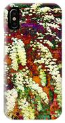 Stylized Spirea - Flowering Plant - Gardener IPhone Case