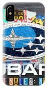 Subaru License Plate Map Sales Celebration Limited Edition 2013 Art IPhone Case