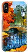 Sublime Park - Palette Knife Oil Painting On Canvas By Leonid Afremov IPhone Case