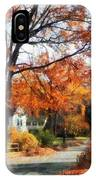 Suburban Street In Autumn IPhone Case