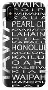 Subway Hawaii State 1 IPhone Case