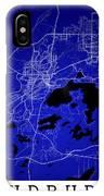Sudbury Street Map - Sudbury Canada Road Map Art On Colored Back IPhone Case