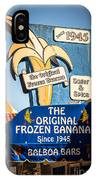 Sugar And Spice Frozen Banana Sign On Balboa Island IPhone Case