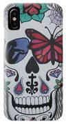 Sugar Candy Skull Zebra IPhone Case
