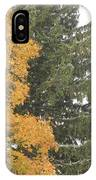 Sugar Maple And Evergreen IPhone Case
