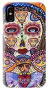 Sugar Skull Angel Heart' IPhone Case