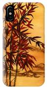 Sumi-e Red Bamboo IPhone X Case