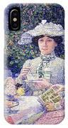 Summer Afternoon Tea In The Garden-1901 IPhone Case