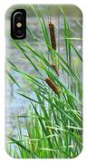 Summer Cattails In The Breeze IPhone Case