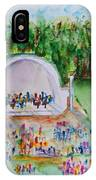 Summer Concert In The Park IPhone Case