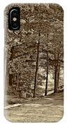 Summer Lane Sepia IPhone Case