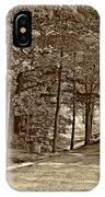 Summer Lane Sepia IPhone Case