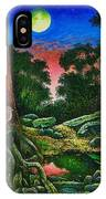 Summer Twilight In The Forest IPhone Case