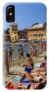 Sun Bathers In Sestri Levante In The Italian Riviera In Liguria Italy IPhone Case