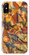 Sun- Bathing Among Yellow  Roses IPhone Case
