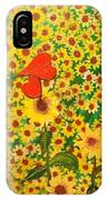 Sun Flowers Field With Two Hearts Forever Connected By Love IPhone Case