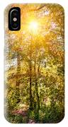 Sun In The Autumn Forest IPhone Case