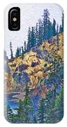 Sun Notch On A Rainy Day At Crater Lake National Park-oregon IPhone Case