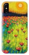 Sunburst Poppies IPhone Case