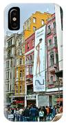 Sunday Afternoon On Pedestrian Walkway In Istanbul-turkey IPhone Case