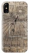 Sundial With Les Miz IPhone Case