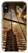 Sundown At Willis Sears Tower IPhone Case
