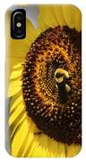 Sunflower And Bee-3922 IPhone Case