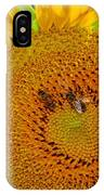 Sunflower And Bees IPhone Case
