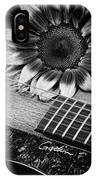 Sunflower And Guitar IPhone Case